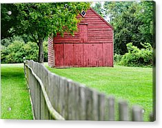 Old Red Barn Il Acrylic Print by Laura Fasulo