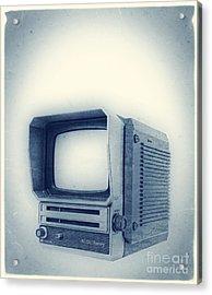 Old School Television Acrylic Print by Edward Fielding