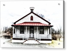 Old Schoolhouse Chester Springs Acrylic Print by Bill Cannon