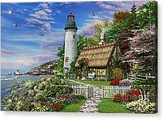Old Sea Cottage Acrylic Print by Dominic Davison