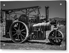 Old Steam Roller Acrylic Print by Garry Gay