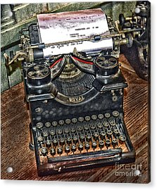 Old Technology Acrylic Print by Arnie Goldstein