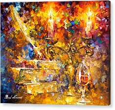 Old Thoughts 2 - Palette Knife Oil Painting On Canvas By Leonid Afremov Acrylic Print by Leonid Afremov