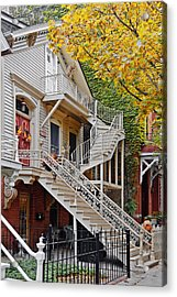 Old Town Chicago Living Acrylic Print by Christine Till