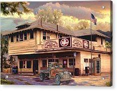 Old Town Irvine Country Store Acrylic Print by Ron Chambers