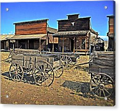Old Town Mainstreet Acrylic Print by Marty Koch