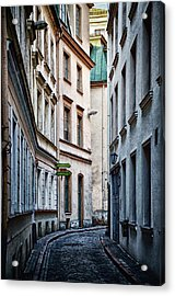 Old Town Street Acrylic Print by Gynt
