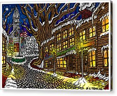 Old Town Acrylic Print by Thome Designs