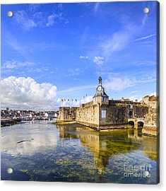 Old Town Walls Concarneau Brittany Acrylic Print by Colin and Linda McKie