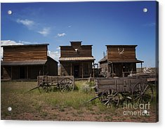 Old Trail Town Acrylic Print by Juli Scalzi
