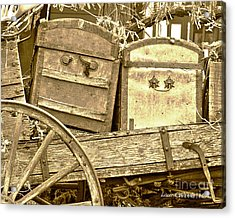 Old Trunks In Genoa Nevada Acrylic Print by Artist and Photographer Laura Wrede