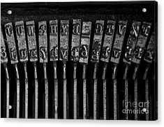 Old Typewriter Keys Acrylic Print by Edward Fielding