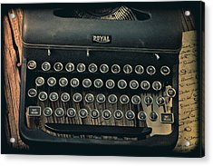 Old Typewriter With Letter Acrylic Print by Garry Gay