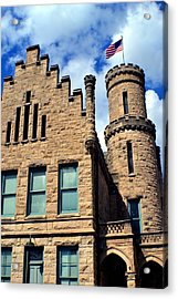 Old Vanderburgh County Jail Acrylic Print by Deena Stoddard