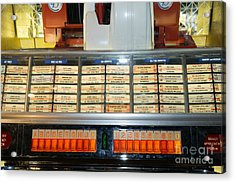 Old Vintage Jukebox Dsc2758 Acrylic Print by Wingsdomain Art and Photography