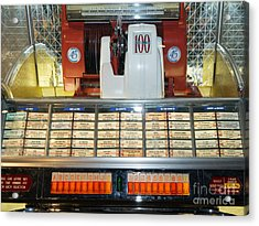 Old Vintage Jukebox Dsc2759 Acrylic Print by Wingsdomain Art and Photography