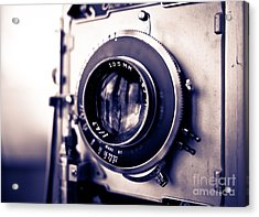 Old Vintage Press Camera  Acrylic Print by Edward Fielding