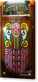 Old Vintage Rock Ola Jukebox Dsc2792 Acrylic Print by Wingsdomain Art and Photography