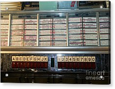 Old Vintage Seeburg Jukebox Dsc2753 Acrylic Print by Wingsdomain Art and Photography