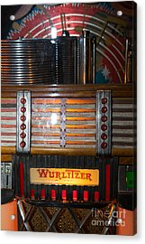Old Vintage Wurlitzer Jukebox Dsc2705 Acrylic Print by Wingsdomain Art and Photography