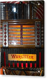 Old Vintage Wurlitzer Jukebox Dsc2706 Acrylic Print by Wingsdomain Art and Photography