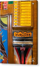 Old Vintage Wurlitzer Jukebox Dsc2780 Acrylic Print by Wingsdomain Art and Photography