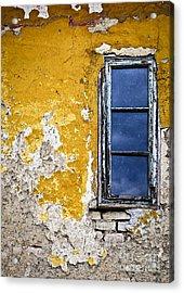 Old Wall In Serbia Acrylic Print by Elena Elisseeva