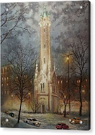 Old Water Tower Milwaukee Acrylic Print by Tom Shropshire