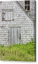 Old Weathered Building In Maine Acrylic Print by Keith Webber Jr