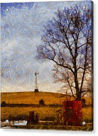Old Windmill On The Farm Acrylic Print by Dan Sproul