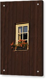 Old Window Acrylic Print by Aged Pixel
