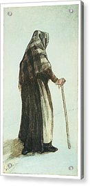 Old Woman Seen From Behind Acrylic Print by Vincent van Gogh