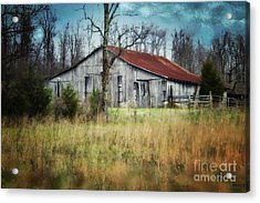 Old Wooden Barn Acrylic Print by Betty LaRue