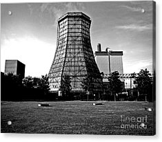Old Wooden Cooling Tower Acrylic Print by Andy Prendy