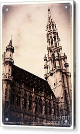 Old World Grand Place Acrylic Print by Carol Groenen