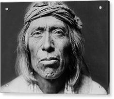 Old Zuni Man Circa 1903 Acrylic Print by Aged Pixel