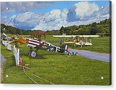 Olde Rhinebeck Aerodrome Acrylic Print by Kenneth Young