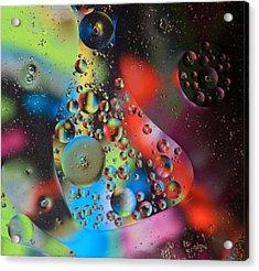 Olej I Woda 4 Acrylic Print by Joe Kozlowski