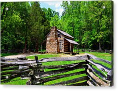 Oliver Cabin 1820s Acrylic Print by David Lee Thompson