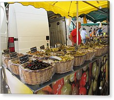 Olives For Sale Acrylic Print by Pema Hou