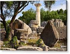 Olympus Ruins Acrylic Print by Brian Jannsen