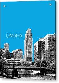 Omaha Skyline - Ice Blue Acrylic Print by DB Artist