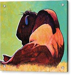On Empty Bison Acrylic Print by Joe  Triano