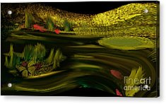 On Golden Pond Acrylic Print by Sherri  Of Palm Springs