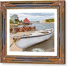 On The Dock Acrylic Print by Betsy C Knapp