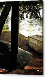 On The Island Acrylic Print by Michelle Calkins