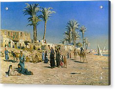 On The Outskirts Of Cairo Acrylic Print by Peder Mork Monsted