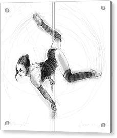 On The Pole Acrylic Print by H James Hoff