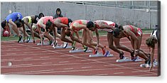 On Your Marks Acrylic Print by Shoal Hollingsworth