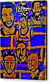 Once A Laker... Acrylic Print by Tony B Conscious